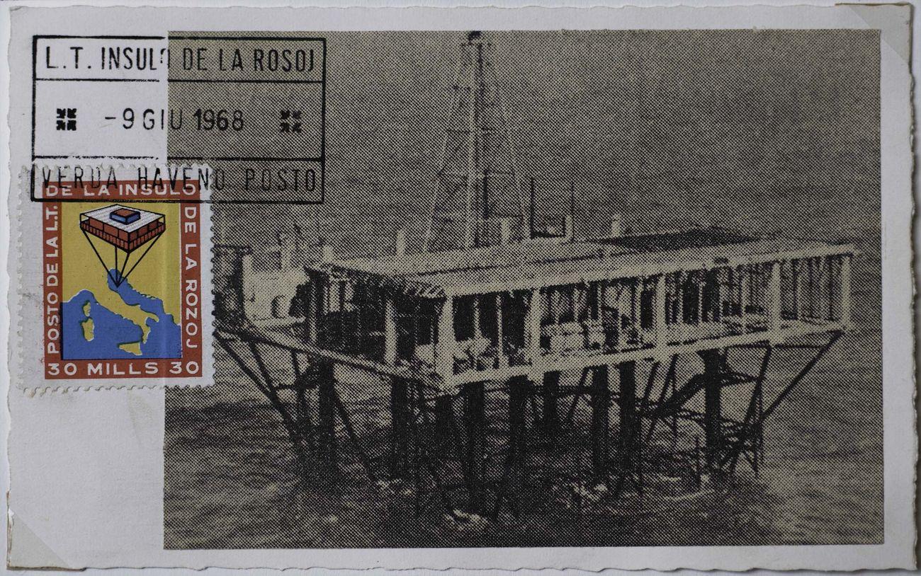 Cartolina affrancata dell'Isola delle rose