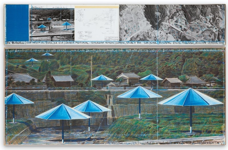 Christo The Umbrellas Joint Project for Japan and Usa 1991 Courtesy of Sotheby's
