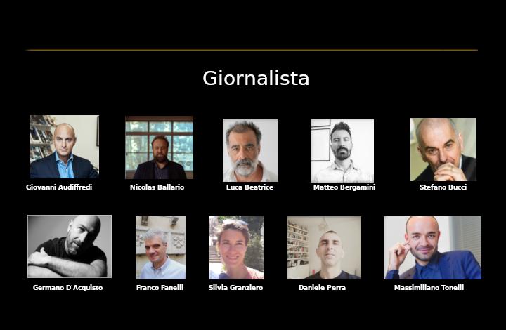 Cinello Unlimited, i Giornalisti candidati