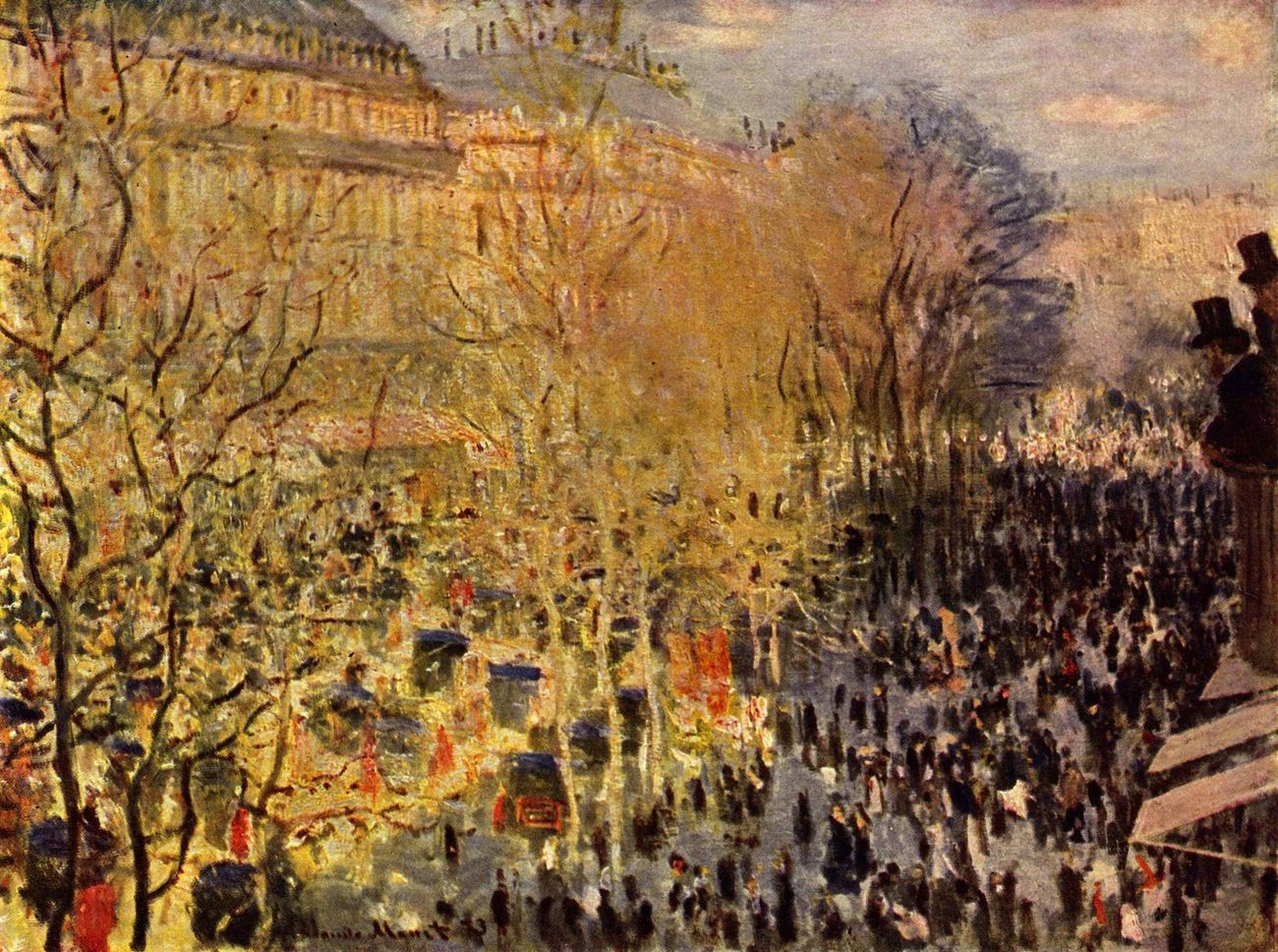 Claude Monet, Le Boulevard des Capucines, 1873, olio su tela, 60×80 cm. Museo Puškin, Mosca