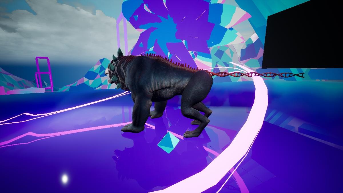 Il modello in 3D di un personaggio del corto The darkest night