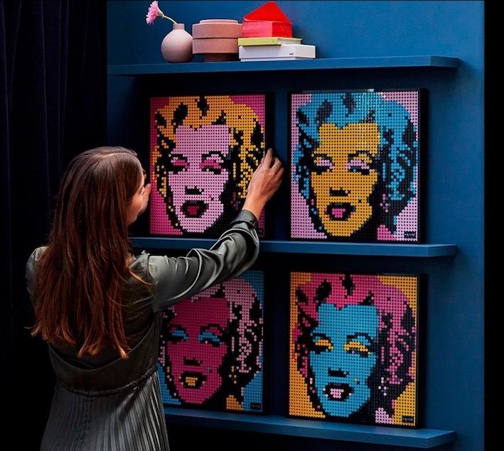 Lego Art - Andy Warhol