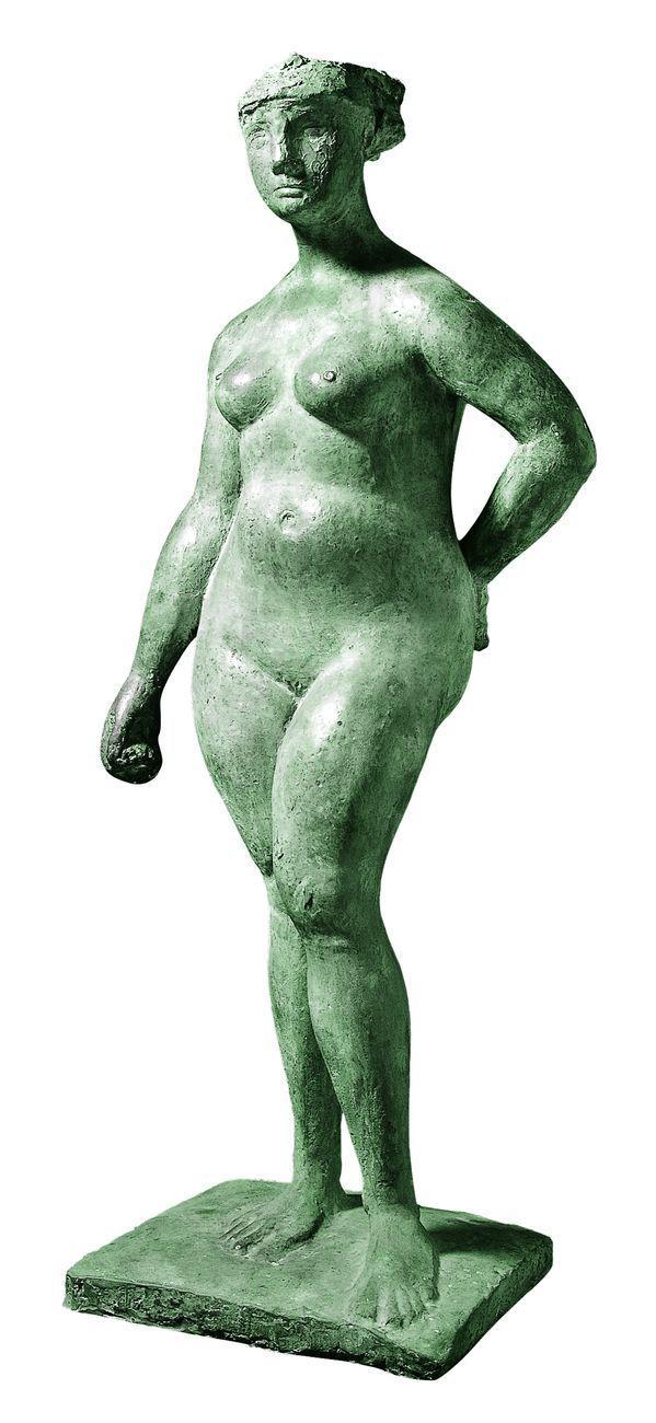 Marino Marini, Pomona, 1945, bronzo, cm 162x66x55. Collezione Farnesina