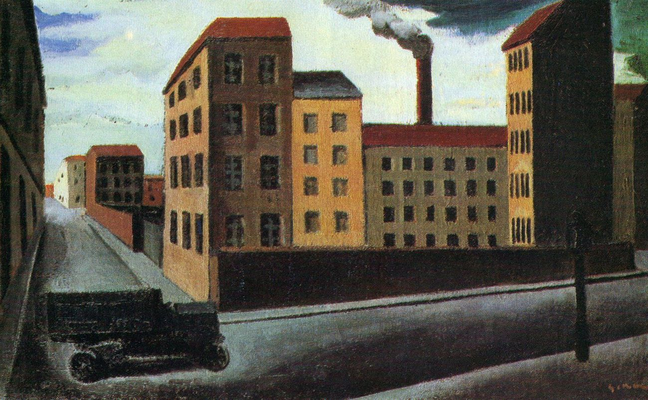 Mario Sironi, Paesaggio urbano, 1921