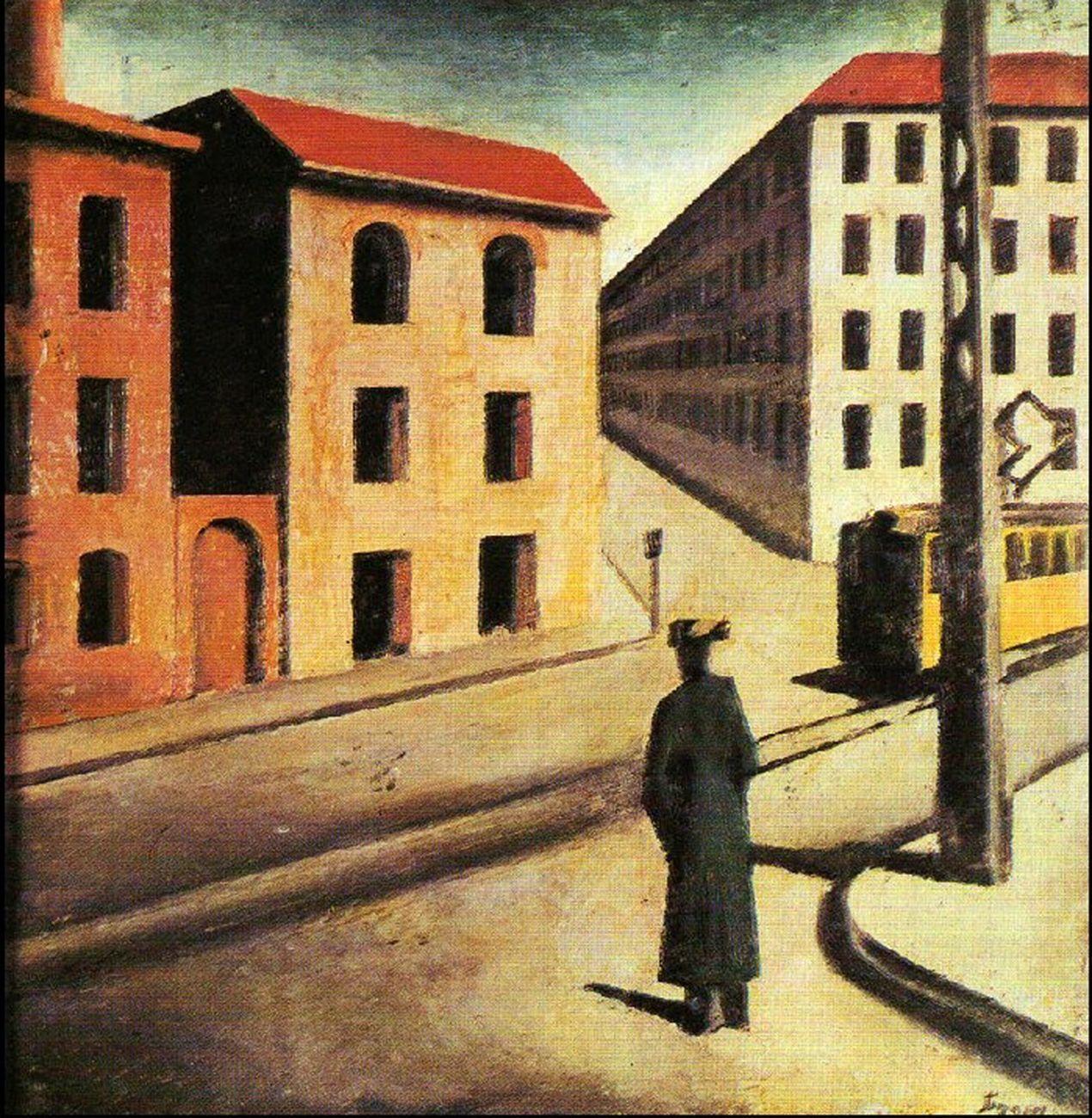 Mario Sironi, Paesaggio urbano, 1922