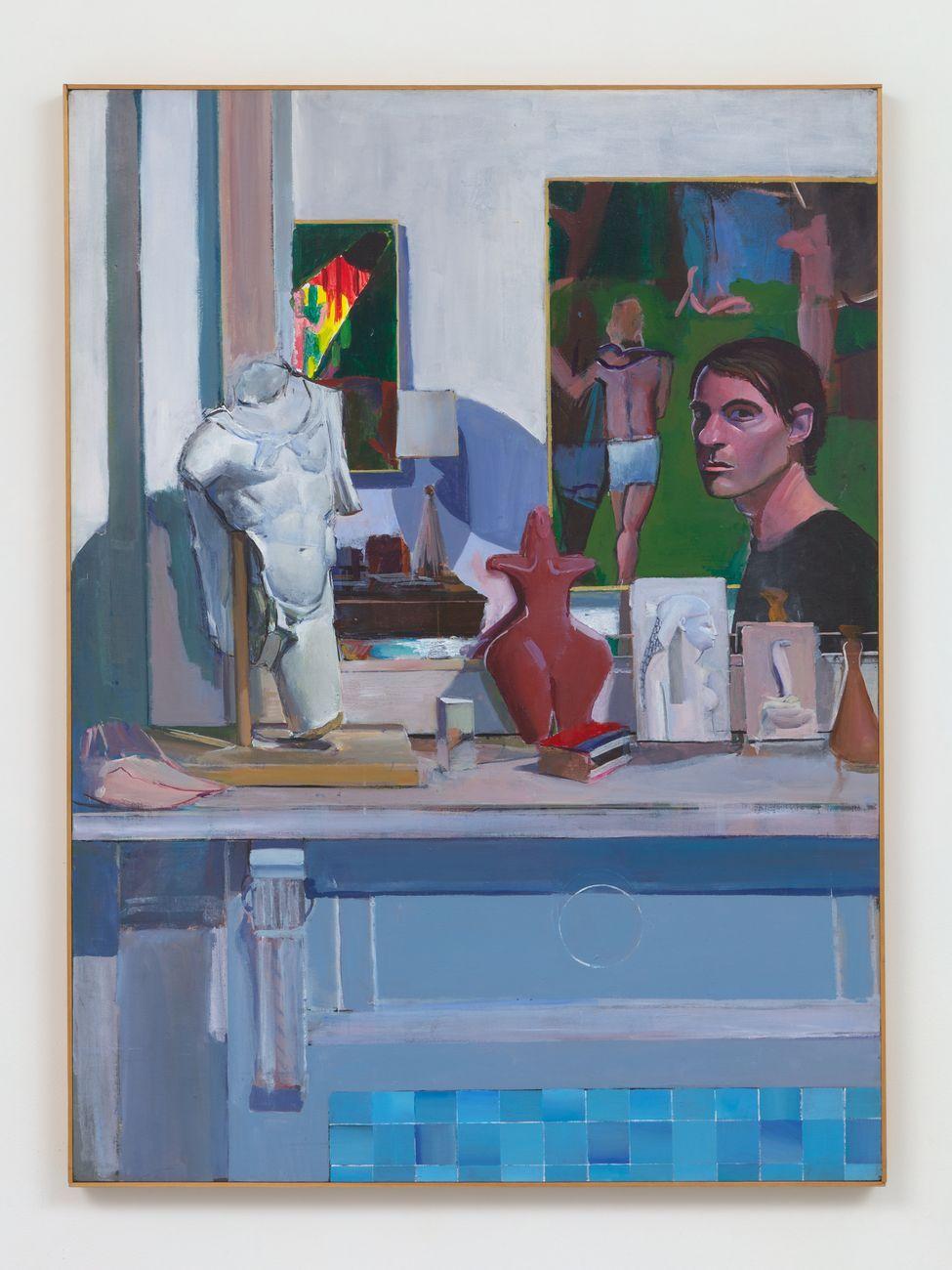 Patrick Angus, Self Portrait as Picasso, 1980, acrilico su tela, 139.7 x 104 x 4.4 cm. Courtesy of Bortolami Gallery, New York