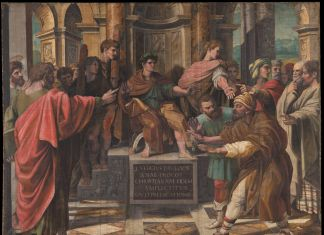 Raphael Cartoon, The Conversion of the Proconsul also known as The Blinding of Elymas © Victoria and Albert Museum, London. Courtesy Royal Collection Trust / Her Majesty Queen Elizabeth II, 2021