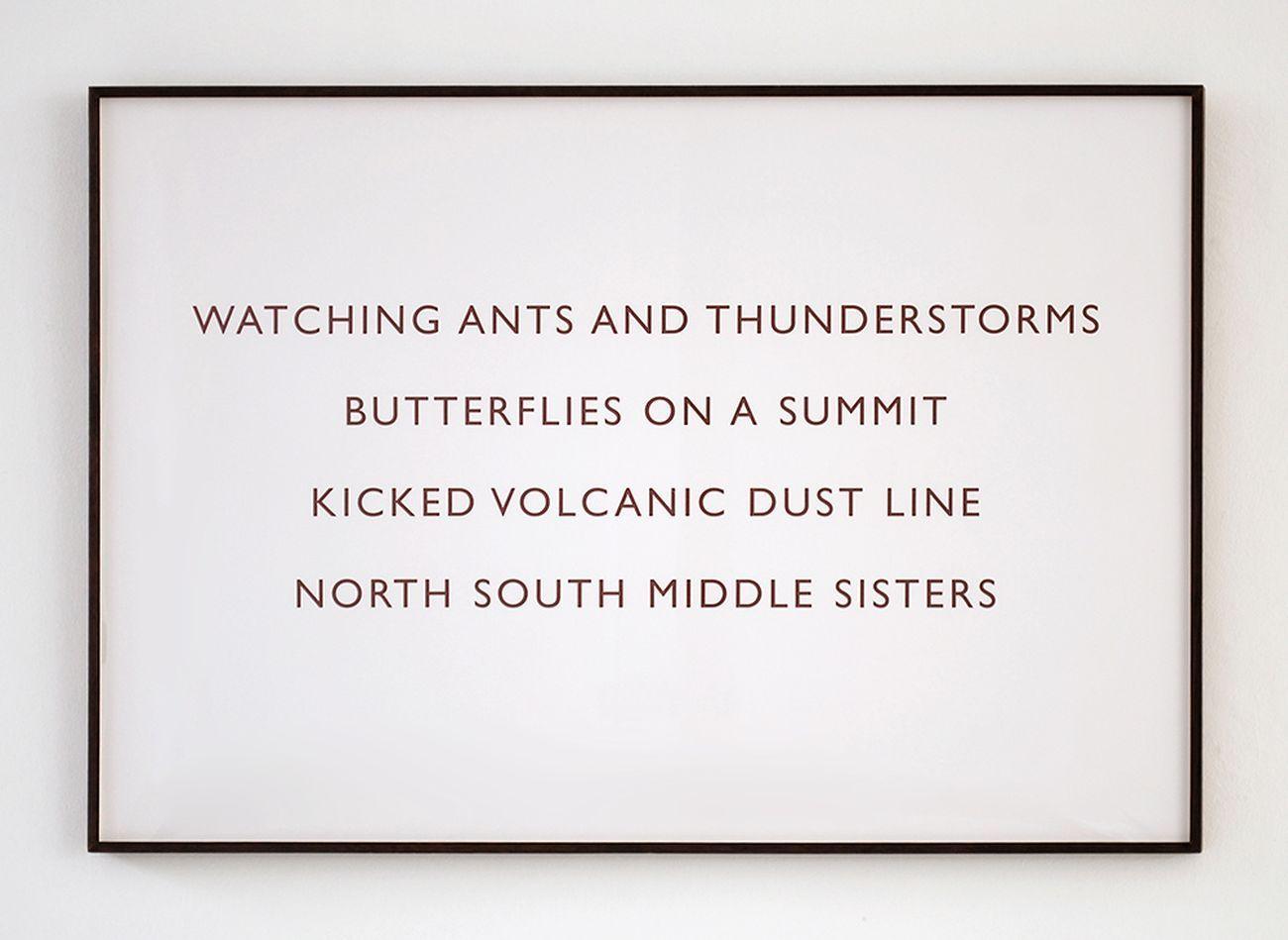 Richard Long, Watching ants and thunderstorms, 2001. Courtesy l'artista e Tucci Russo Studio per l'Arte Contemporanea, Torre Pellice Torino. Photo © Archivio fotografico Tucci Russo