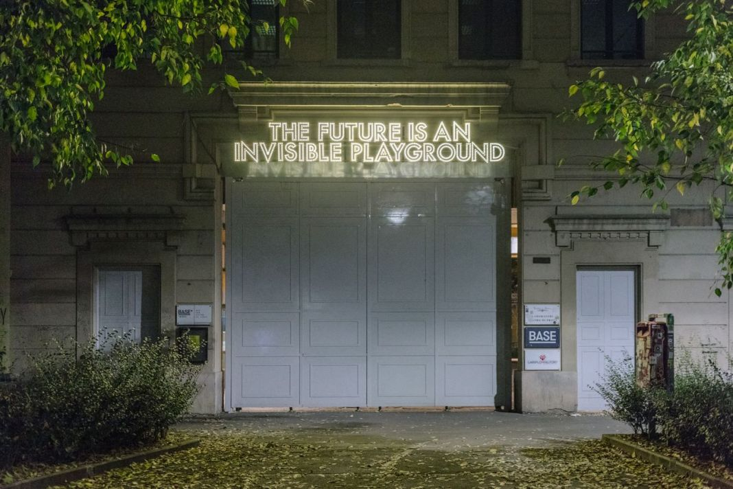 Robert Montgomery, The Future Is A Risk of Our Hearts, 2020, BASE, Milano