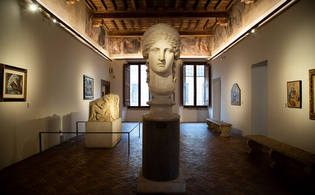 Savinio. Incanto e mito. Exhibition view at Palazzo Altemps, Roma 2021. Photo Studiozabalik
