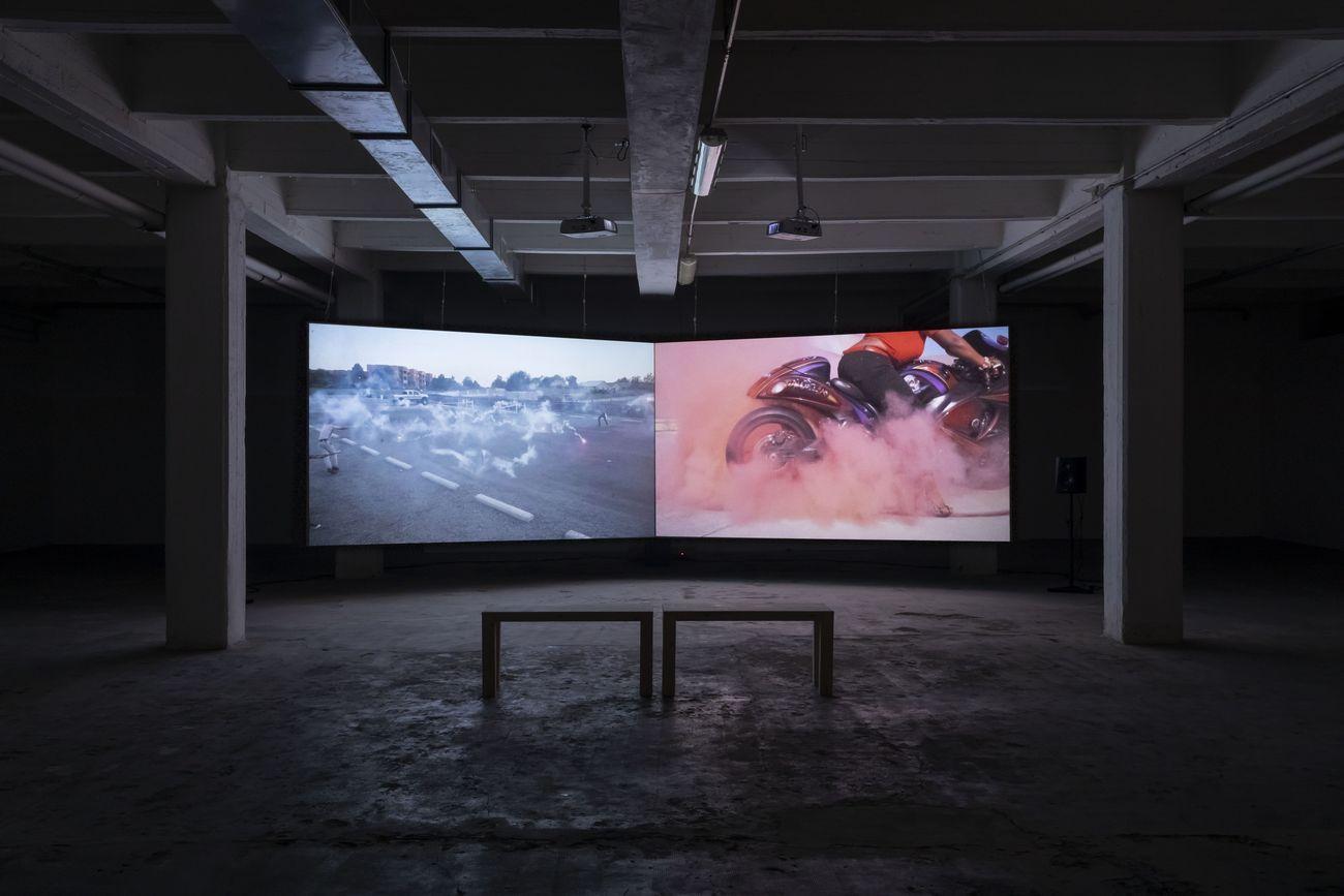 Tommy Malekoff, Desire lines, 2019. Installation view. Courtesy of the artist and ZERO..., Milano. Photo credits Roberto Marossi