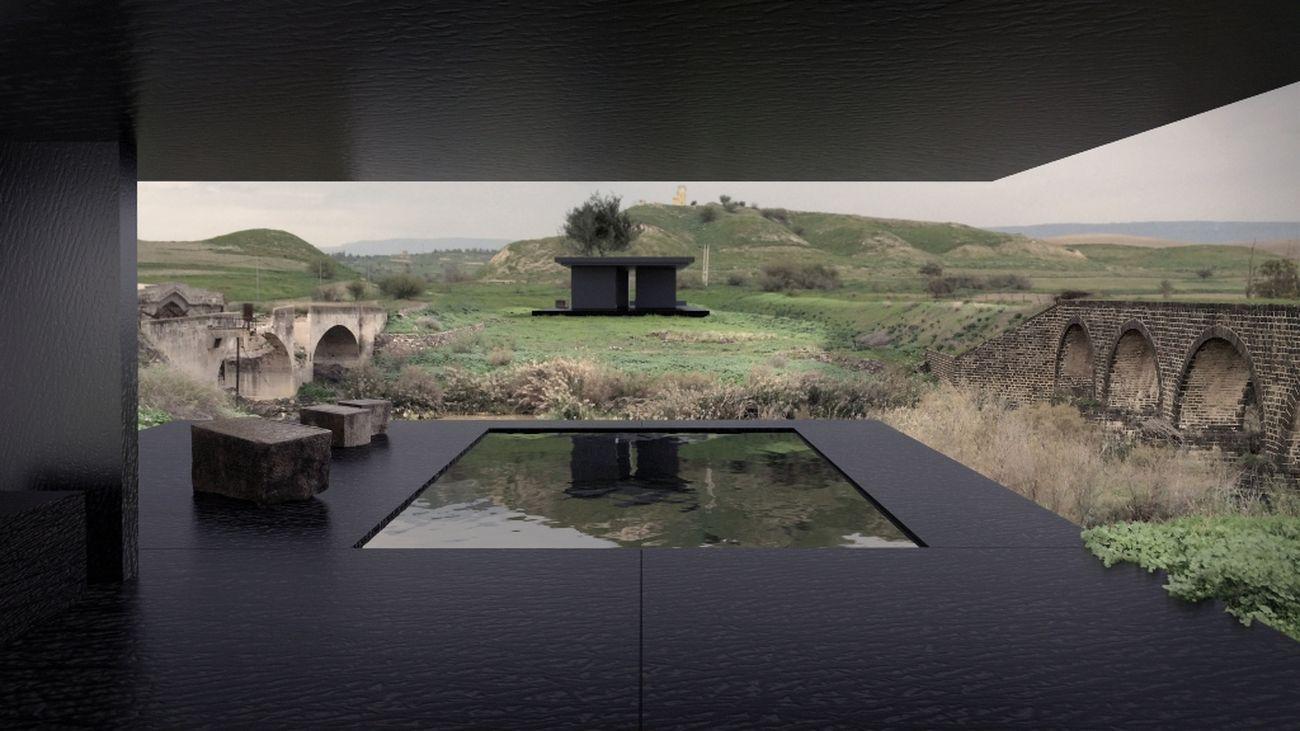 Un rendering del futuro Museum of Coexistence. Courtesy Gitai Architects