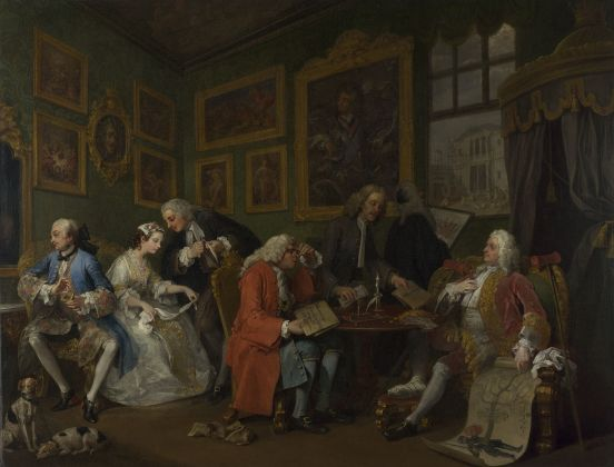 William Hogarth, Matrimonio alla moda Il contratto di matrimonio