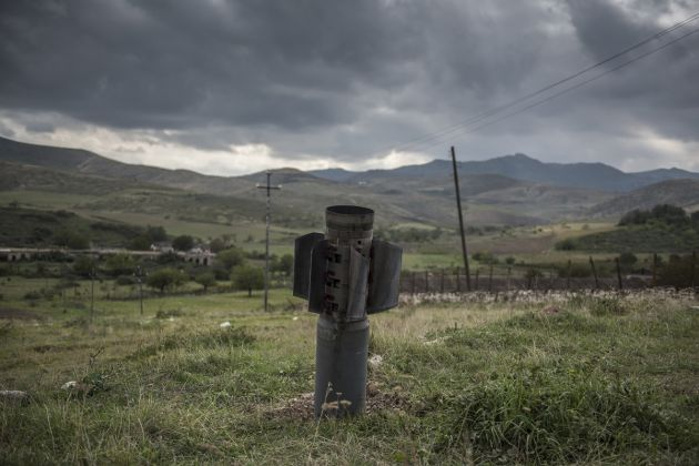 Paradise Lost © Valery Melnikov, Russia, Sputnik. A rocket remaining after the shelling of the city of Martuni (Khojavend), Nagorno-Karabakh, lies in a field, on 10 November, the day the peace agreement between Armenia and Azerbaijan came into effect.