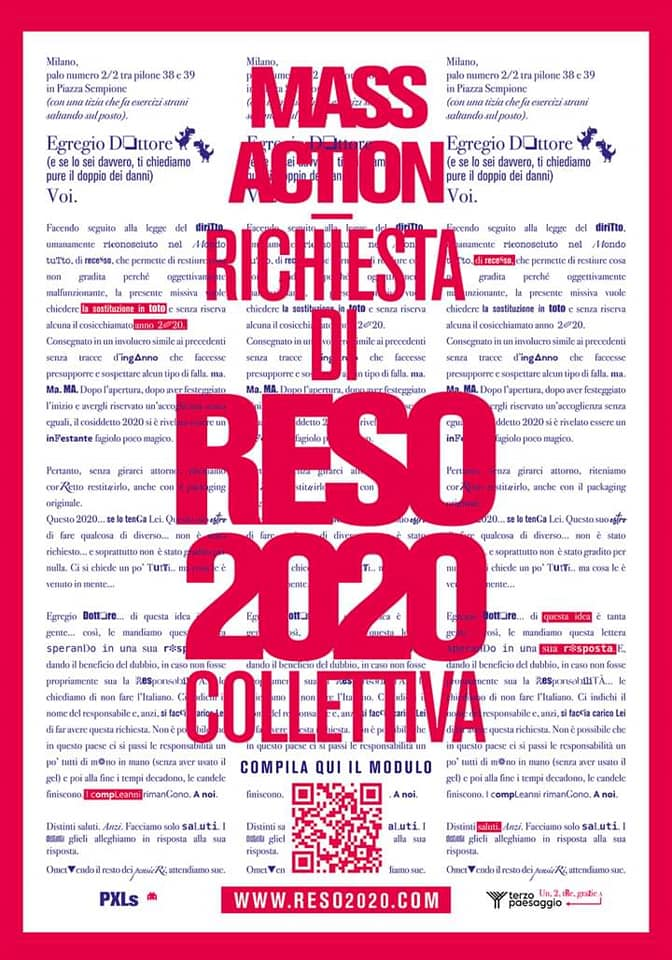 Reso2020, l'azione artistica di PXLs