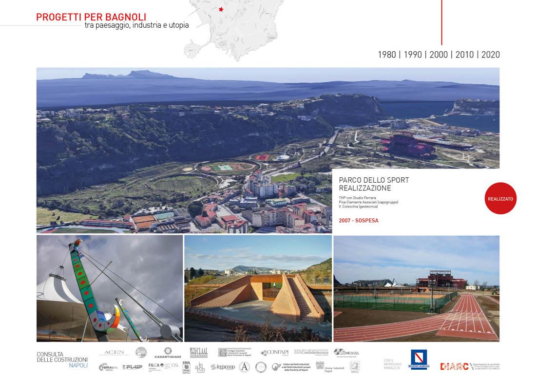 Parco dello Sport. Realizzazione (2007 Sospesa), THP con Studio Ferrara, Pica Ciamarra Associati (capogruppo), V. Cotecchia (geotecnica)