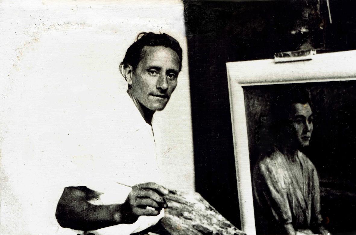 Alfredo Catarsini nello studio, 1939