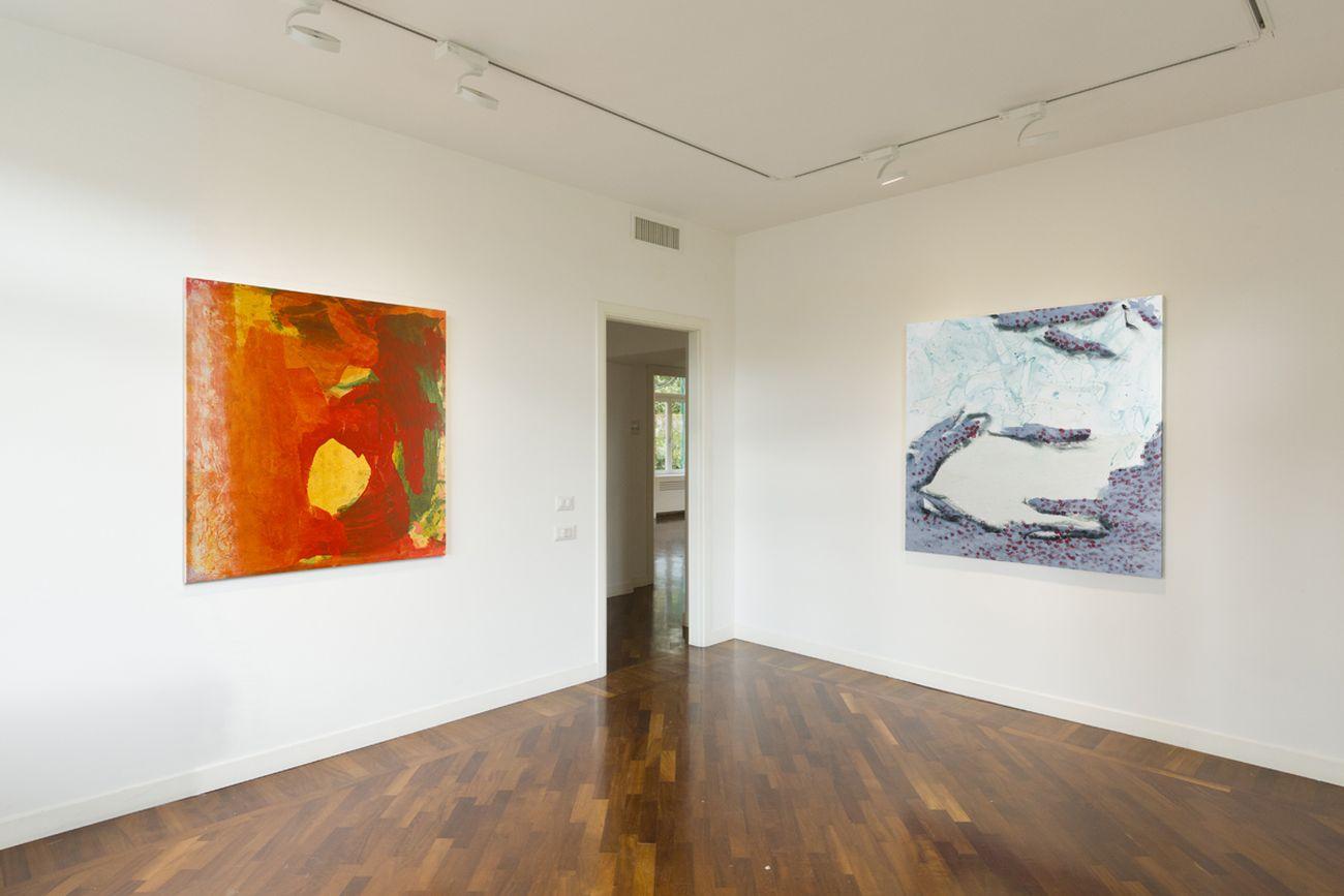 Andrea Kvas. BLAC ILID. Exhibition view at Fondazione smART, Roma 2021