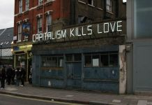 Claire Fontaine, Capitalism Kills (Love), 2011