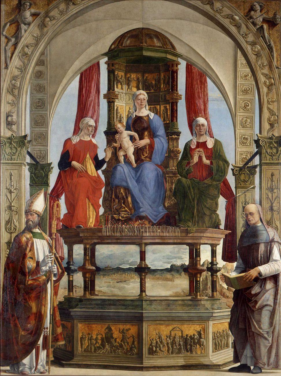 Ercole de' Roberti, Pala di Santa Maria in Porto (detta Pala Portuense), 1479 81, olio su tela, 323×240 cm. Pinacoteca di Brera, Milano