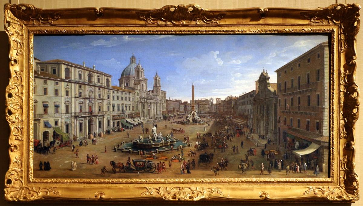 Gaspar van Wittel, veduta di Roma con Piazza Navona, 1688 1721 ca, Collezione Palazzo Zevallos Stigliano, ph Sailko, fonte Wikimedia