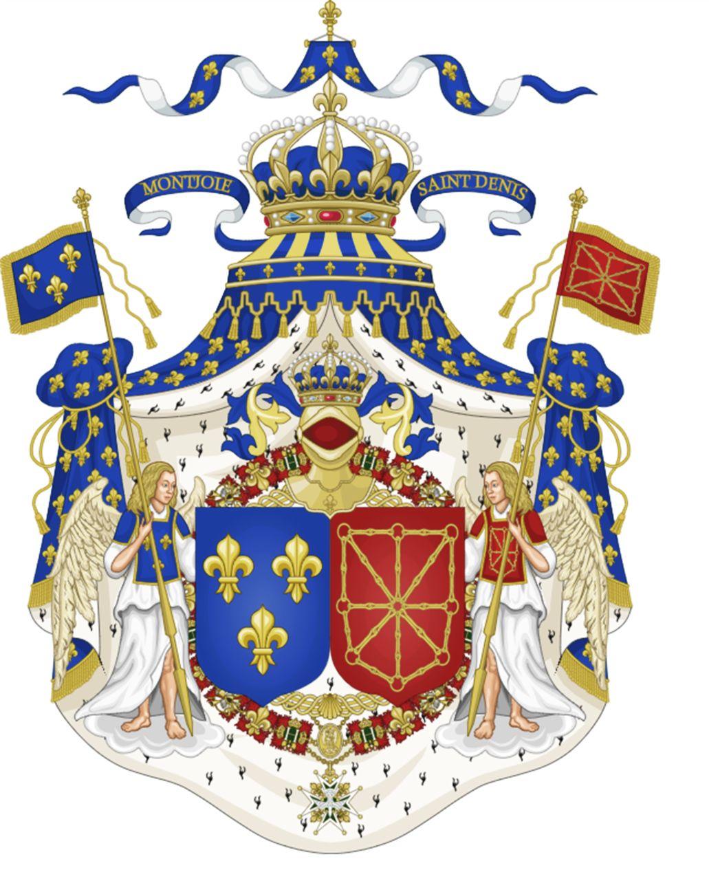 Grande stemma dei Borbone, re di Francia