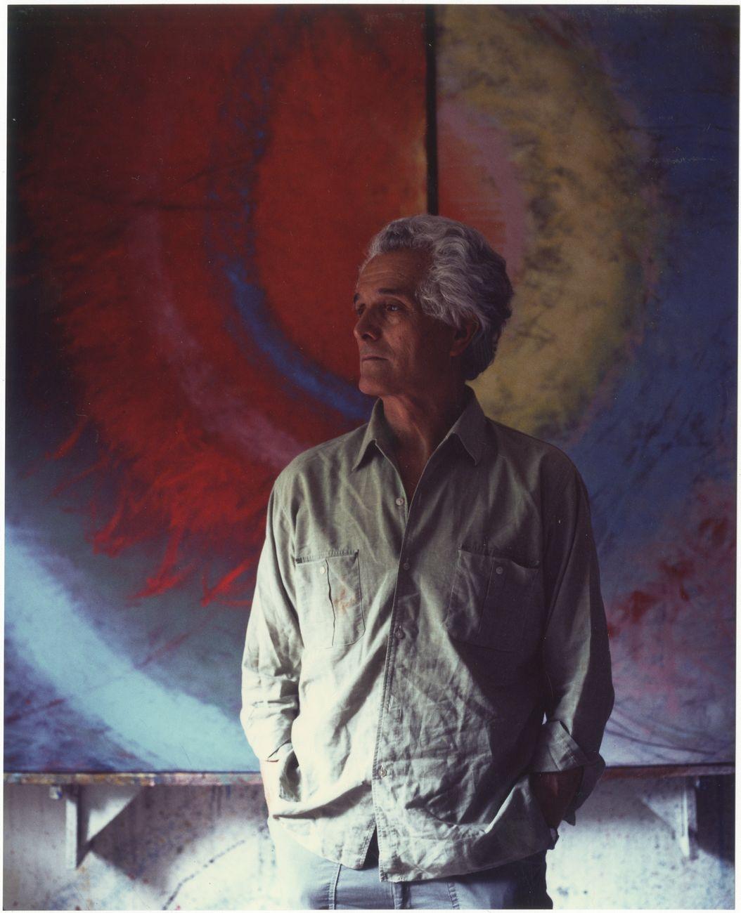 Guido Strazza. Roma, Studio a Testaccio, 1989