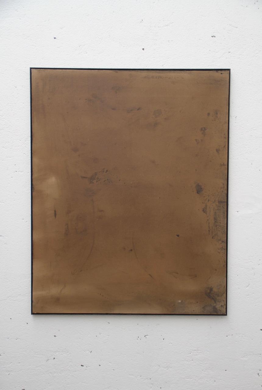 Leonardo Anker Vandal, The Shades of Autumn, 2018, tea, mordente, acrylic, bitume, 150x120 cm
