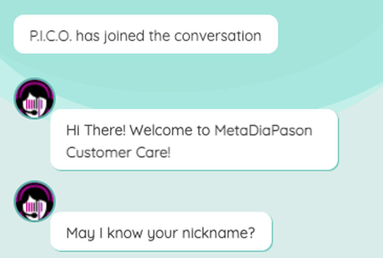 P.I.C.O. chatbot in azione