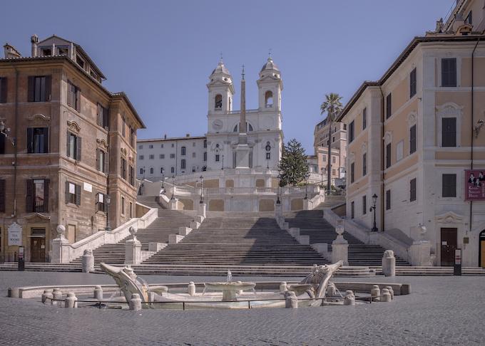 Roma città chiusa, progetto fotografico di Anton Giulio Onofri - Piazza di Spagna