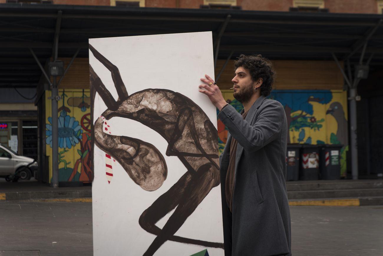 STRUTTURA, Assembramento. Opera di Alfredo Valerio. Roma 7 marzo 2021. Photo Claudia Candidi