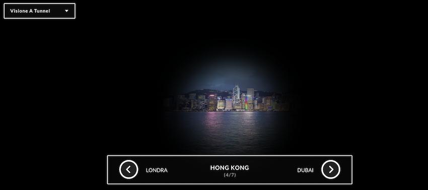 Vista a 360 gradi - sito web Lenstore