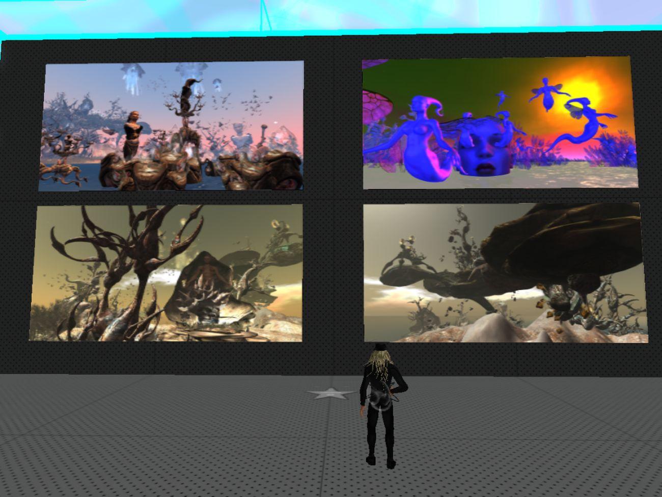 Second Life Art 2006-2012. Craft World, Uqbar Sim, 2021. Claudia 222
