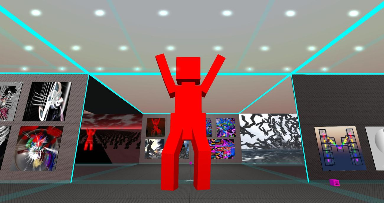 Second Life Art 2006-2012. Craft World, Uqbar Sim, 2021. Merlino Mayo
