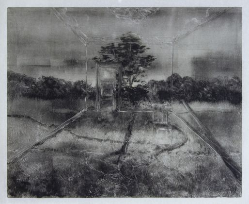 Simon Nicasz Dean, Untitled (Figure in Landscape, First State)
