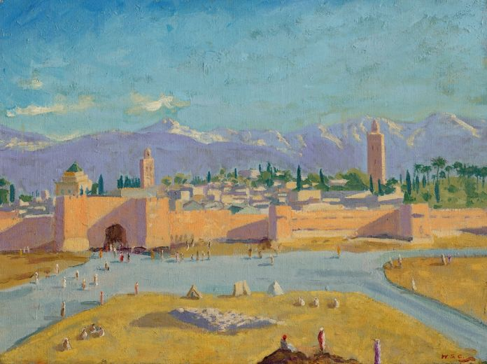 Sir Winston Churchill, Tower of the Koutoubia