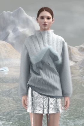 Sweater snow in the mountains