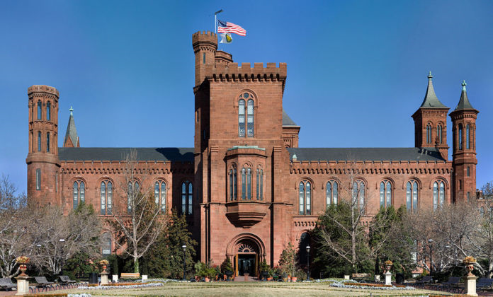 The Smithsonian Building in Washington D.C. United States. Edit of WikipediaImage Smithsonian Building