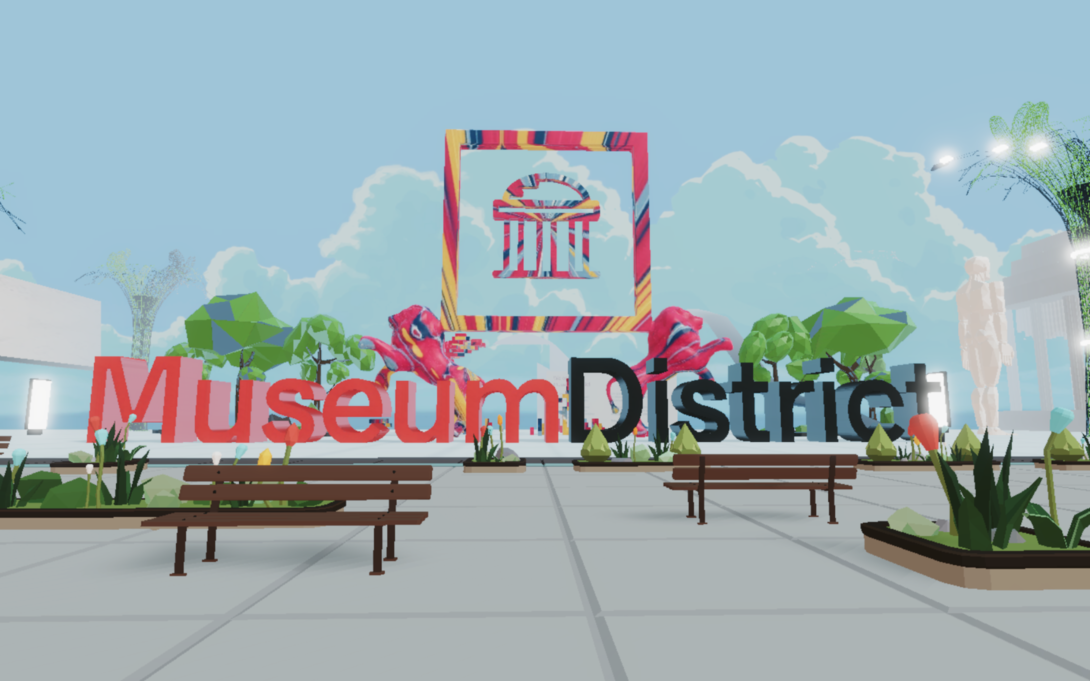 Travel diary, Museum district, Decentraland