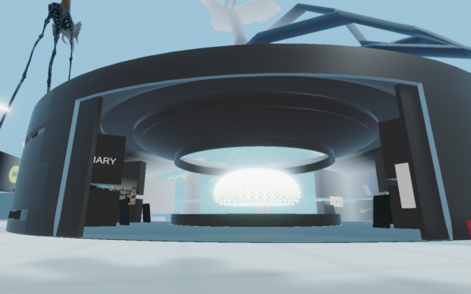Travel diary, Oval Gallery, Decentraland