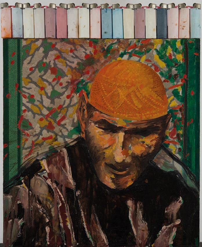 Aldo Mondino, Ritratto, 1986, © ALDO MONDINO, by SIAE 202, Foto Paolo Vandrasch, Milano
