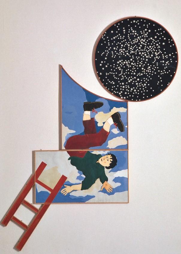 Aldo Spoldi, Le avventure di Gordon Pym, 1981, Collezione Intesa Sanpaolo ©Archivio Patrimonio Artistico Intesa Sanpaolo / Foto Paolo Vandrasch, Milano