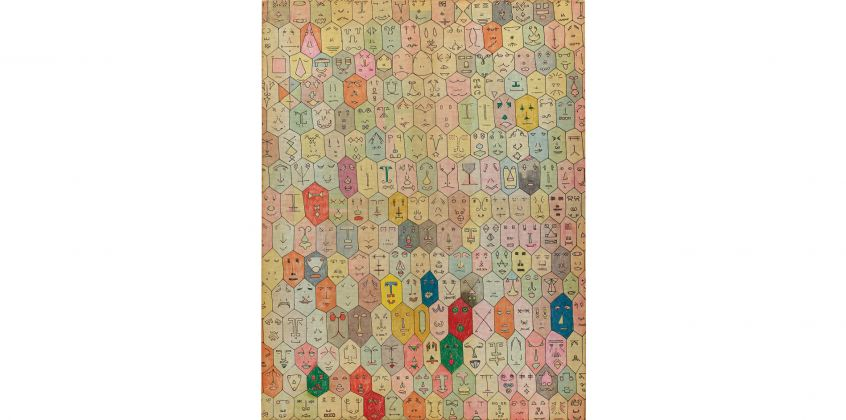 Alighiero Boetti, Faccine (1977) Courtesy of Phillips