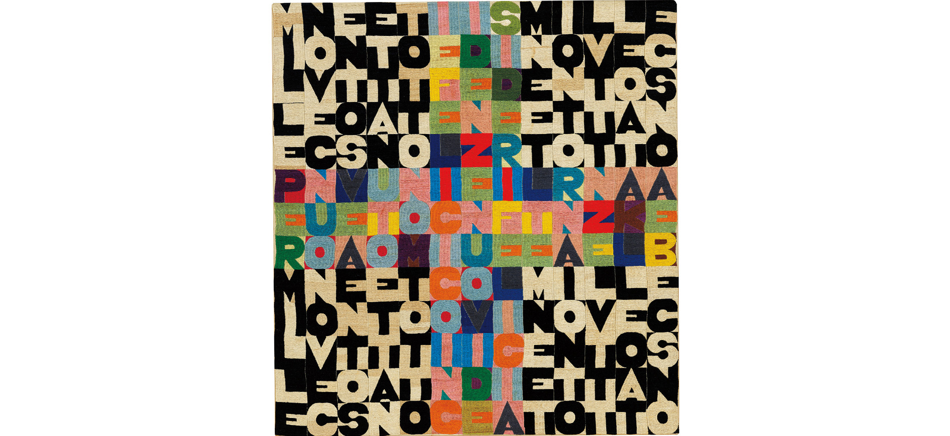 Alighiero Boetti, Senza Titolo (1977 per 1978) (1977) Courtesy of Phillips