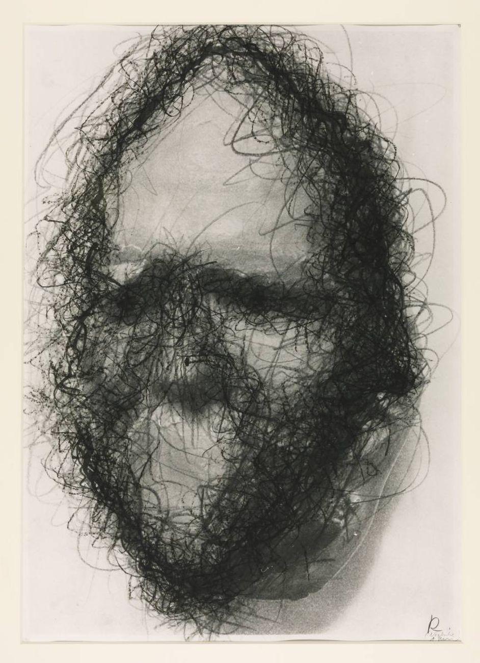 Arnulf Rainer, Johann Wolfgang von Goethe dalla serie Totenmasken, 1982 © Arnulf Rainer - Tate