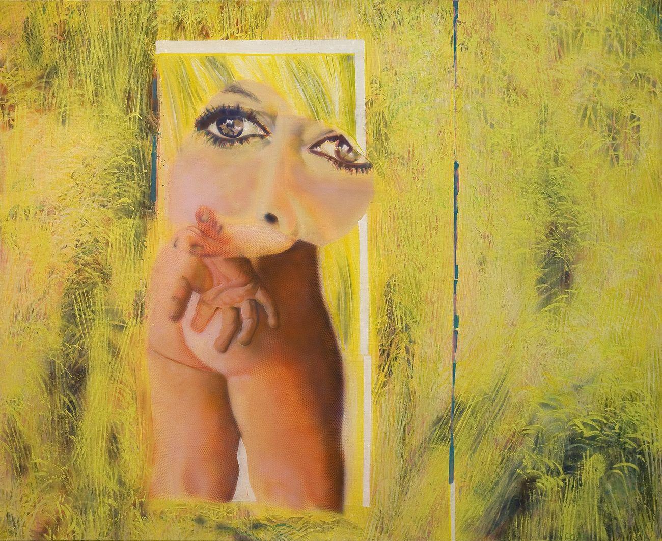 Claudio Cintoli, Bè Bè o Blé, 1965, olio su tela, cm 158 x 200. Collezione Eleonora Manzolini