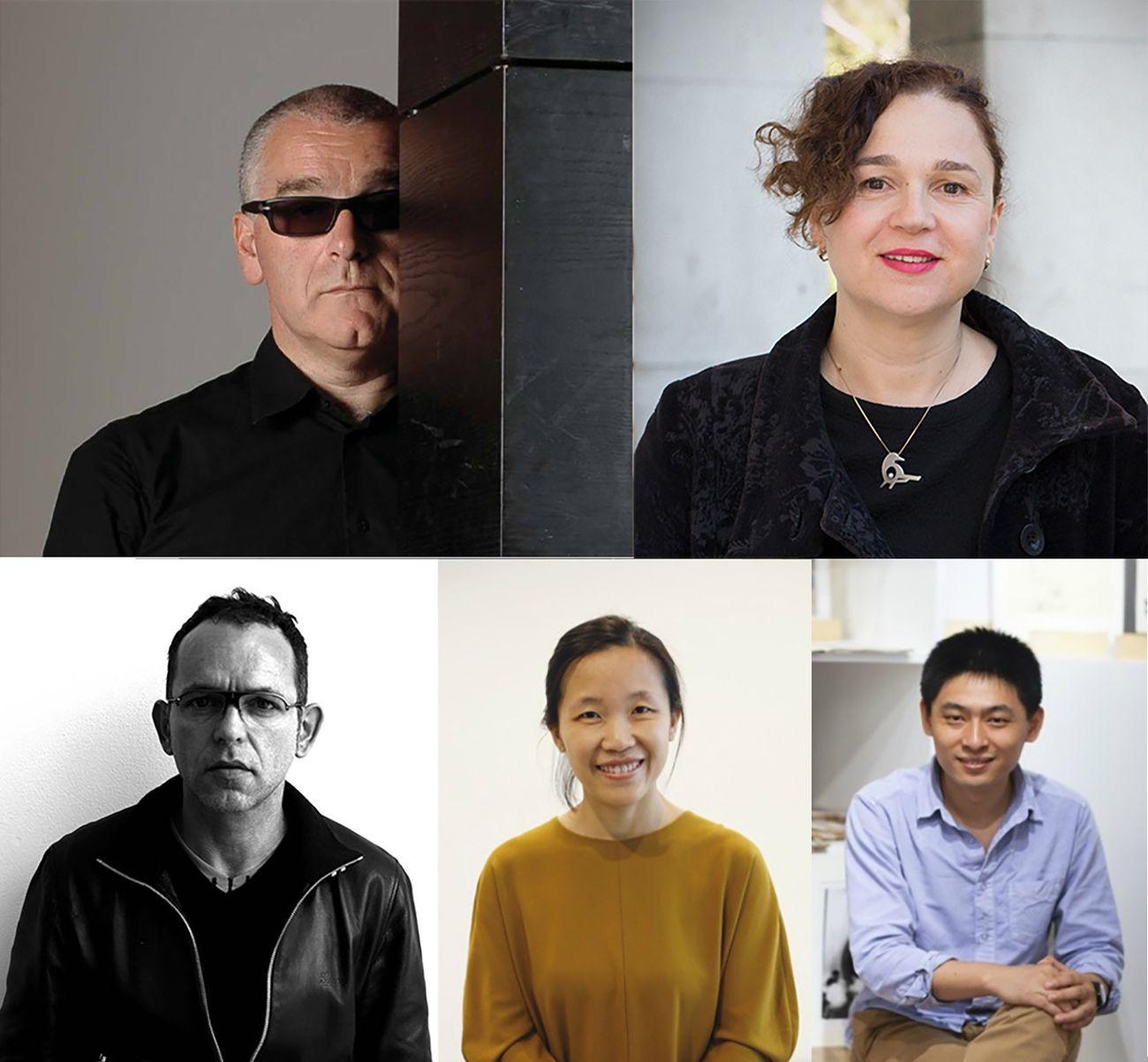 Curatori selezionatori di Blackout Book. Da sx in alto, Marco Scotini, Ana Devic (WHW), Pierre Bal Blanc, Carol Yinghua Lu, Liu Ding