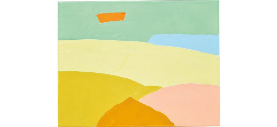 Etel Adnan, California #19 (2013) Courtesy of Phillips
