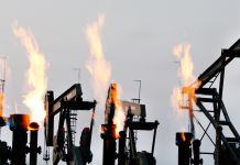 Flaring Oil Wells