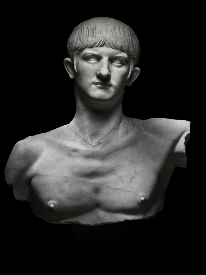 Marble bust of Nero. Italy, around AD 55. Photo by Francesco Piras. © MiC Museo Archeologico Nazionale di Cagliari.
